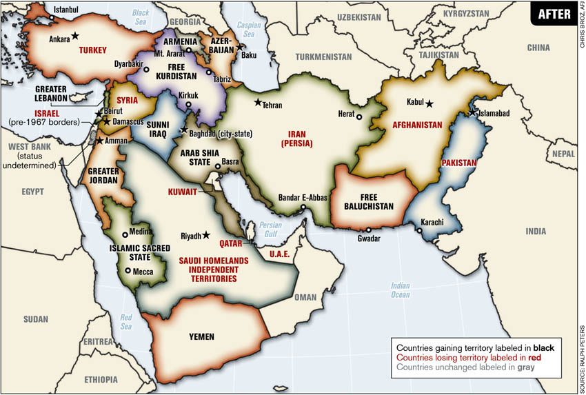 map of middle east countries