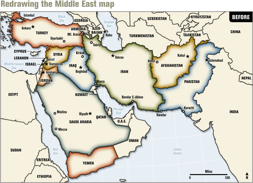 The Empires New Middle East Map ethnic cleansing and petroleum