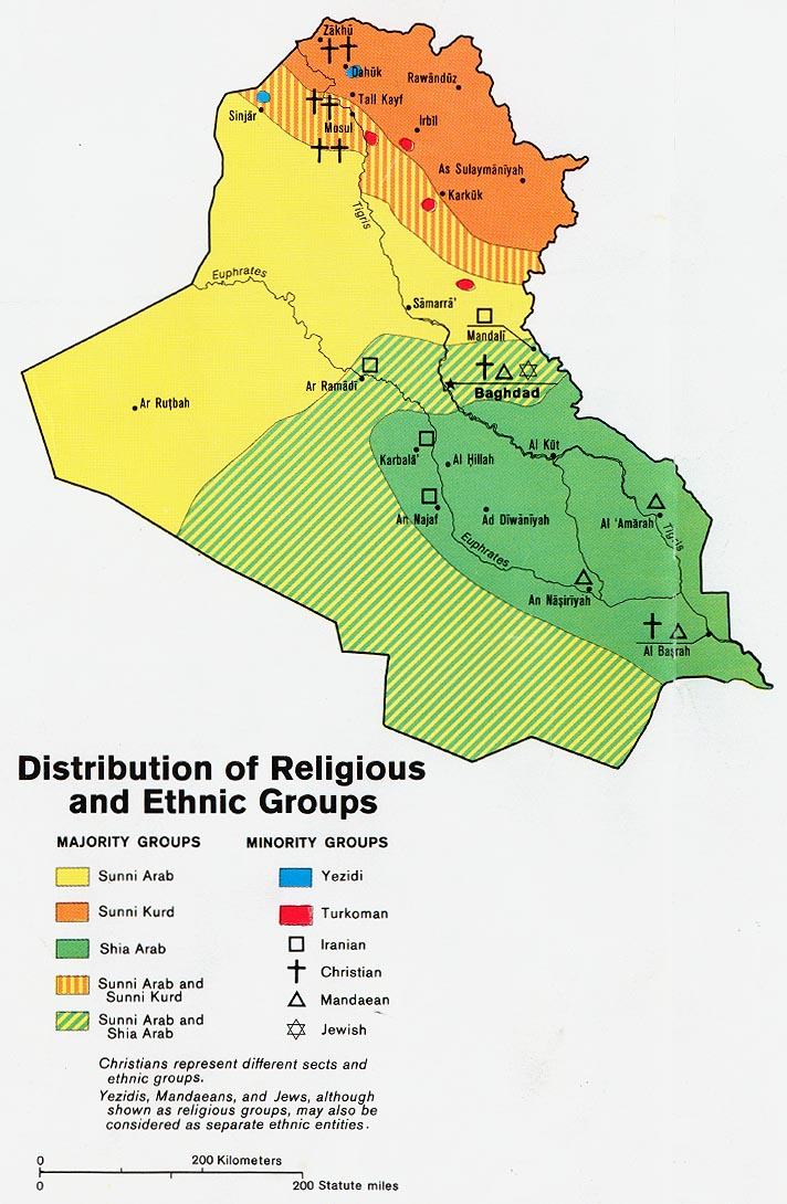 Cia Maps Of Iraqi Oil Fields And Ethnic Religious Divides