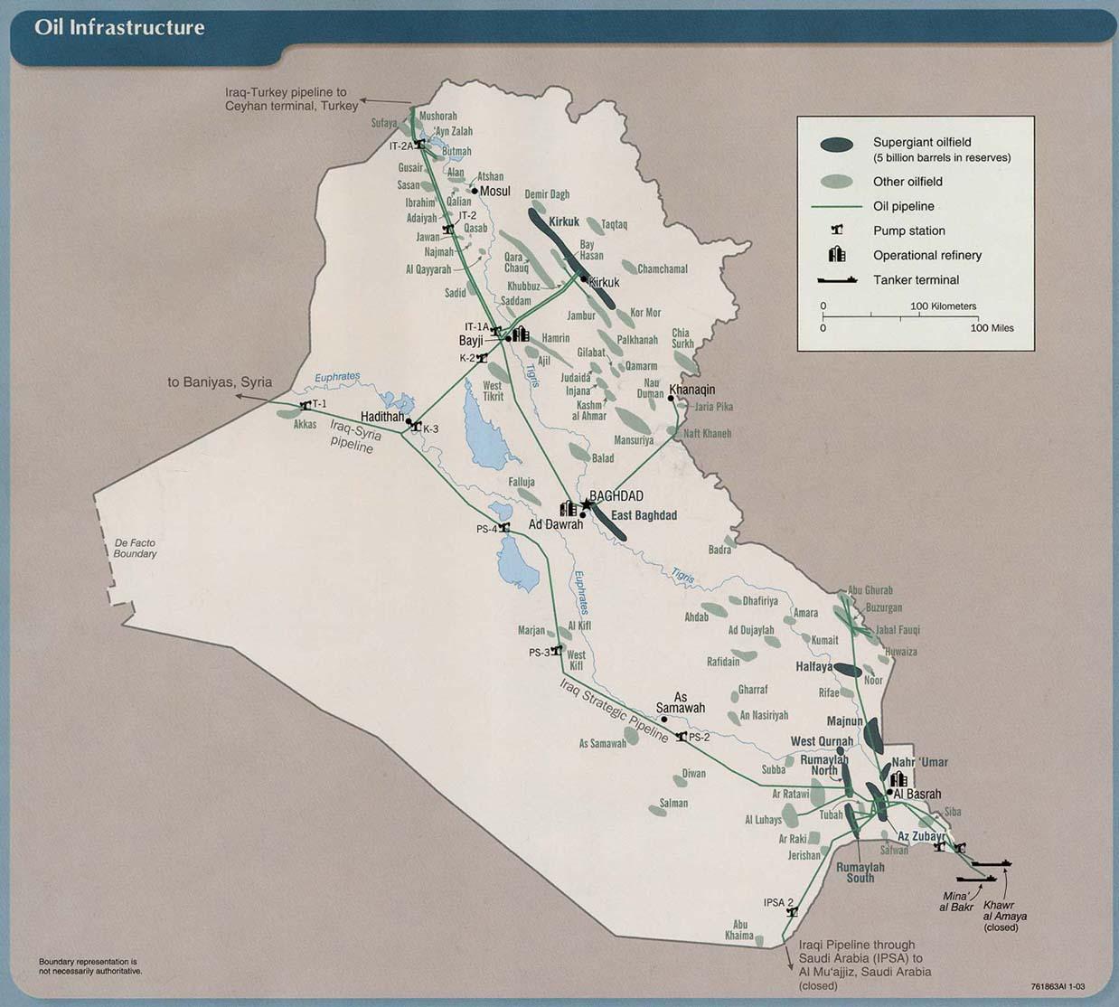 Iraqi Oil Americas New Strategic Petroleum Reserve - Map showing us and iraq